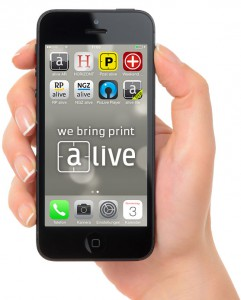 alive hand with smartphone